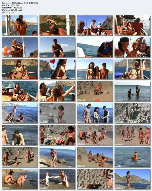 PureNudism Video Family Nudism - UKRAINIAN SEA BOATING