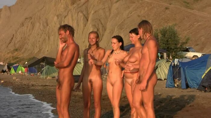 Young nudists on the Black Sea-Nudist Family Holiday Video