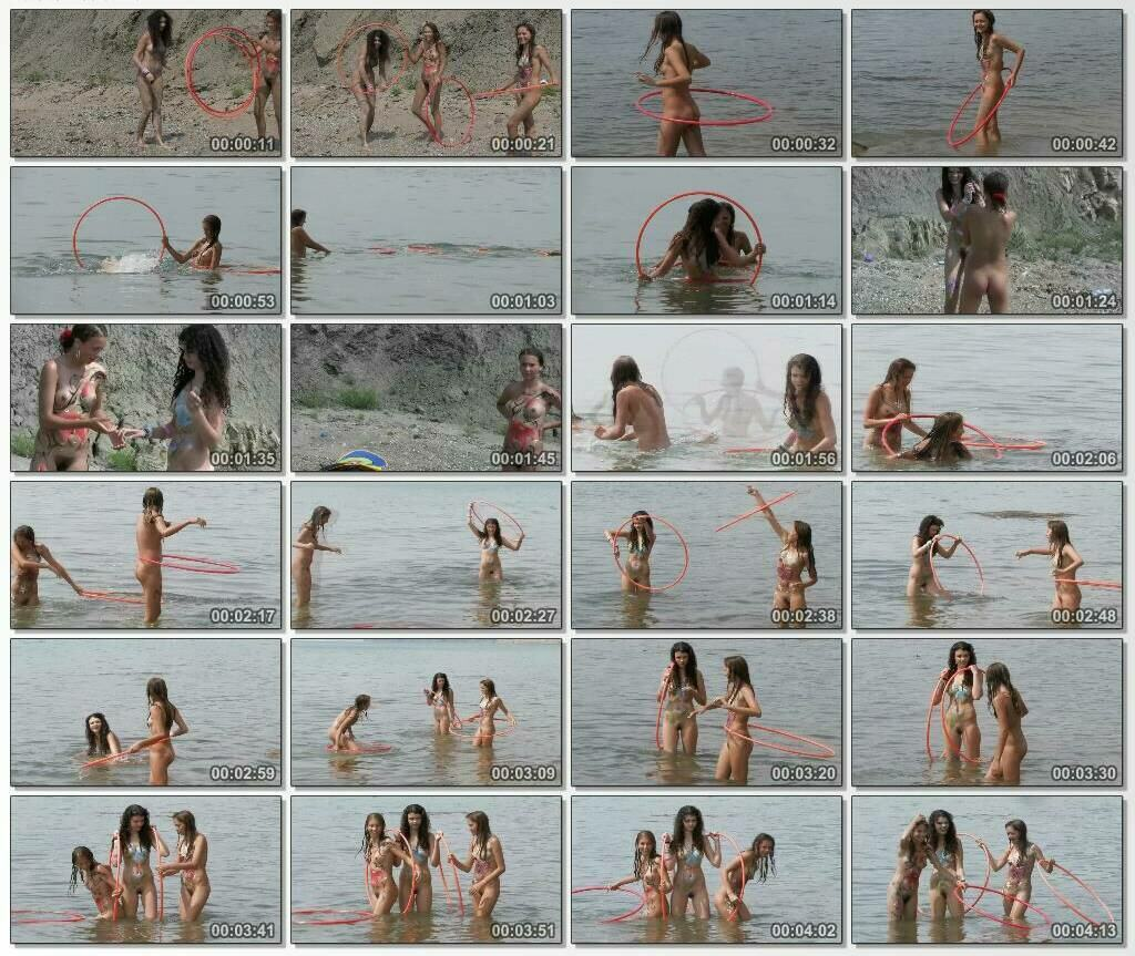 The beauty of the naked body of young nudist girls